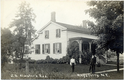 J.G. Atwater residence. Two houses west of King Ferry Post Office; where Orin May family once lived, Note the roof on building. (Photo ID: 28044)