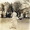 Jennie Conaughty at bat, teacher at King Ferry School 1920's & 30's. Photo taken in 1924. (Photo ID: 29610)