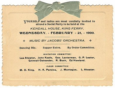 Social party invitation at Kendall House. (Photo ID: 28058 a)