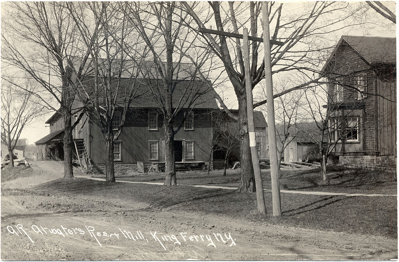 A. R. Atwater residence and mill, King Ferry, NY. (Photo ID: 28056)