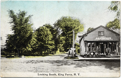 F. T. Atwater, General Merchandise & Drugs.  Looking South, King Ferry, NY. (Photo ID: 28026)v