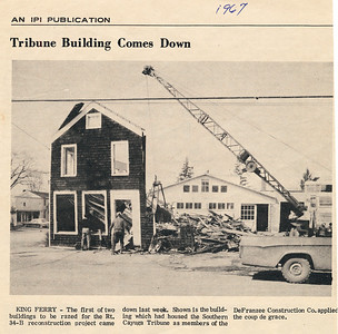 The Tribune building comes down in 1967. (Photo ID: 28058 b)