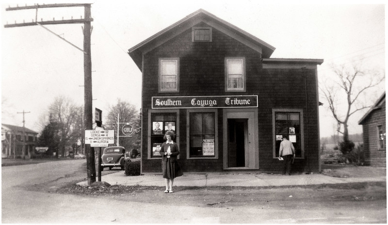 The Southern Cayuga Tribune offices on the corner of Route 34B and Route 90 in King Ferry, NY. (Photo ID: 40513)
