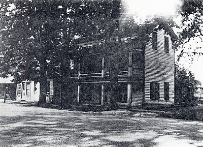 Two story building North East side of road. Used for home making classes. King Ferry, NY. (Photo ID: 28027)