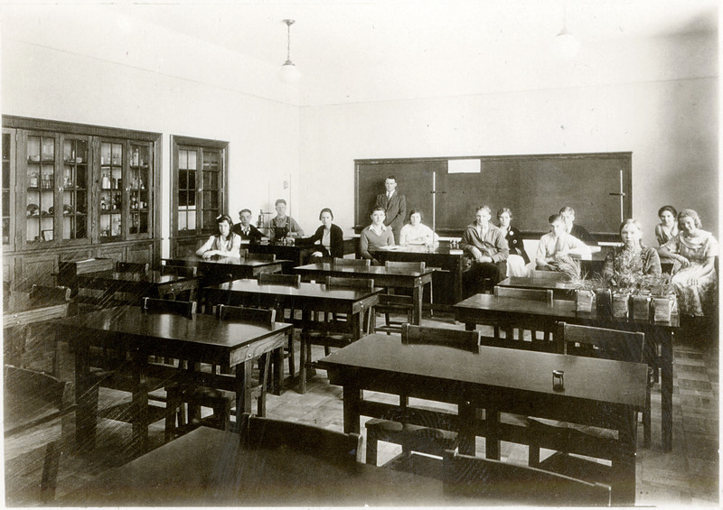 Science Laboratory in King Ferry School. (Photo ID: 30465 b)