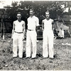 David Myers, Charles Corey and Leo Sullivan. 1933 Chicago Worlds Fair, King Ferry Central School senior trip. (Photo ID: 36237)