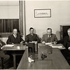Board of Education. L-R: Leslie Hunt, Walter Franklin, Malcolm Mitchell, Roy Tuttle, Eugene Bradley. (Photo ID: 30470)