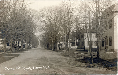 West of intersection looking East, Main Street, King Ferry, NY. (Scan ID: 28032)