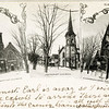 Groton, NY postcard showing the First Baptist Church, the Methodist Church and the Congregational Church. (Photo ID: 45325)