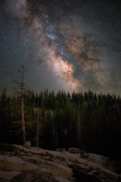 Milky Way Outside Yosemite