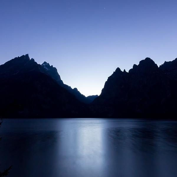 Tetons at Blue Hour