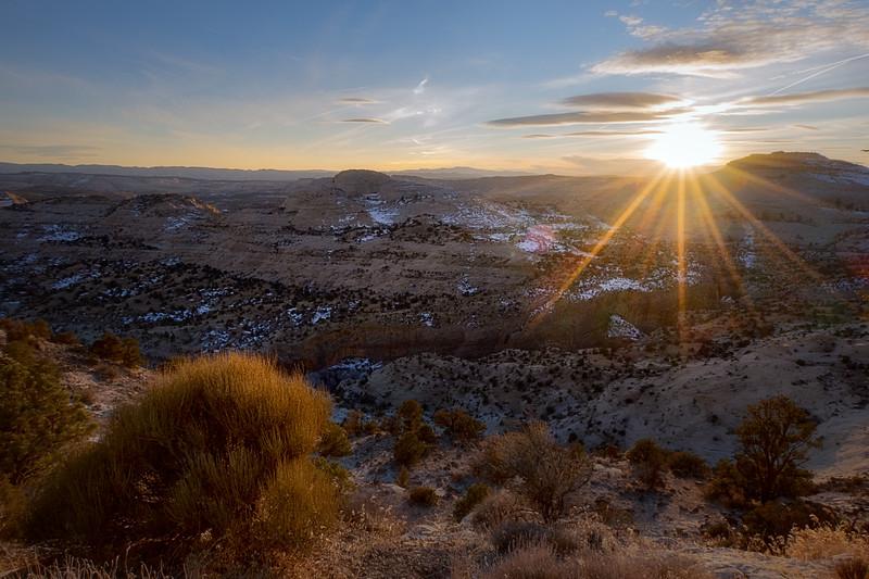 Sun Setting in Southern Utah