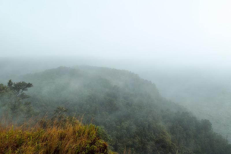 Fog and Rain Near Kilauea