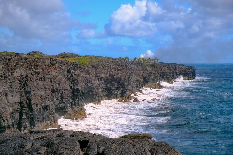 Cliffs near Volcano National Park