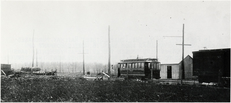The original station site in South Lansing shows car No. 540 of unknown origin. (Photo ID: 38308 a)