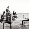 Kids on the dock at Camp Gregory. Poplar Ridge, NY. (Photo ID: 36123)