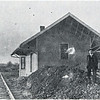 Venice Center train depot with general manager Clark. (Photo ID 38276 c)