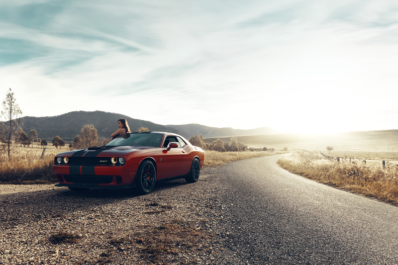 Dodge Hellcat / CGI Rendering by Dmitriy Ten<br /> Backplate / HDRI / Grade by Easton Chang