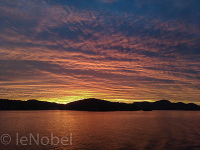 sunrise over Pender Island, B.C.
