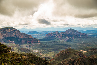 End of the World overlooking west Sedona