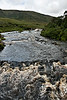 View of the river valley and the distant waterfall.  River Erriff and Aasleagh Waterfall.<br /> <br /> County Mayo, Ireland.