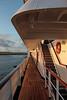 Morning light along the deck