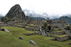 Machu Picchu #121.<br /> <br /> The central plaza, with Huayna Picchu rising high above.