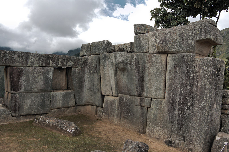 Machu Picchu #122<br /> <br /> A wall in the Sacred Plaza.