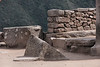 Machu Picchu #139.<br /> <br /> Carved ceremonial stone in the Sacred Plaza.  Purpose unknown, though some claim it serves some astronomical purpose.
