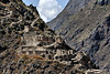 Another view of the lowest of the Inca ruins on the slopes of Apu Pinkullyuna.<br /> <br /> Ollantaytambo Archaeological Park,<br /> Sacred Valley, Peru.<br /> 2009