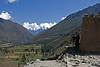The valley of the Rio Urubamba, downstream from Ollantaytambo.<br /> <br /> Ollantaytambo Archaeological Park,<br /> Sacred Valley, Peru.<br /> 2009