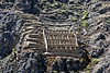 A rather poorly focused image of ruins of storage facilities on the slopes of Apu Pinkullyuna.<br /> <br /> Ollantaytambo Archaeological Park,<br /> Sacred Valley, Peru.<br /> 2009