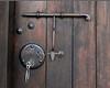 Antique lock and key to my room at the Posada.<br /> <br /> Sonesta Posada del Inca, Yucay, Peru<br /> 2009