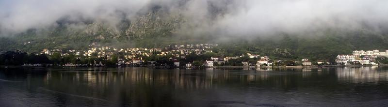 Kotor, Montenegro, waterfront panorama