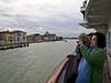 Sestiere Dorsoduro with a glimpse of our ship