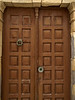 Interesting door hardware.<br /> Lindos, Rhodes,<br /> April, 2011.