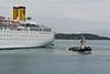 Harbor scenes at Corfu.