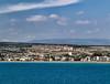 Taşucu, Turkey, as seen from just offshore.