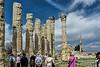 Old and new; Temple of Zeus and minaret.  Diocaesarea, Turkey