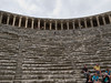 Roman theater, Aspendos, Turkey.<br /> An actor's eye view of the theater.  April, 2011