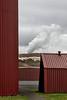 At the Krafla Power Station.<br /> Northeast Iceland.