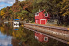 Red, White, and Blue Autumn Idyll