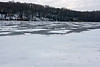 Patches of melt water covered the lake's icy surface, making the safety of walking out on the ice uncertain.  (We didn't go!)<br /> <br /> December 27, 2008<br /> Crooked Lake