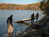 Every autumn lake residents, if they're smart, arrange to have their docks and boats removed from the water to protect them from the tremendous forces exerted by the ice as it forms and thaws repeatedly during the winter.<br /> <br /> October 29, 2004