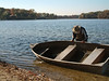 It used to be so much easier to empy the rowboat when there was a slight beach against which to tip it up and dump it.  Since 2007 the water has been so high all the nearby beaches have been submerged.<br /> <br /> October 29, 2004