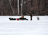 Two ice fishermen on Crooked Lake<br /> <br /> March 16, 2008<br /> Crooked Lake, Michigan