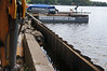Construction scenes of Michigan Marine's reconstruction of the seawall / breakwater at Crooked Lake.<br /> <br /> Taken Sunday, August 4, 2013