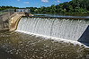 D206-2013  The dam on the Saline River seen from the millpond behind it.<br /> <br /> Saline, Michigan<br /> July 25, 2013