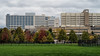 D297-2017 <br /> Looking across the playing fields toward the UM Hospital campus<br /> <br /> Fuller Park, Ann Arbor<br /> Taken October 24, 2017