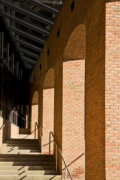 Arches, Stairs, Shadows - Architectural Detail, U of Michigan North Campus